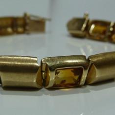 Bratara din aur, 14 carate - Bratara aur 14k cu Citrine