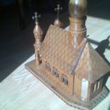 BISERICUTA DE LEMN .. decor.. - Sculptura, Religie