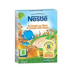 Cereale 8 Cereale cu Miere Nestle 250gr Cod: 7613032193454