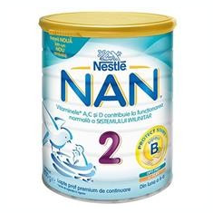 Lapte Praf Nan 2 6-12 Luni Nestle 800gr Cod: 7613034089984