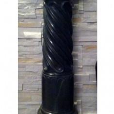 Sculptura, Marmura, Europa - Piedestal din marmura verde secolul 19