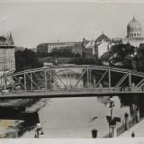 Oradea, Nagyvarad, Bihor - Podul si Sinagoga de pe Cris - Piesa de colectie ! - Carte Postala Transilvania 1904-1918, Necirculata