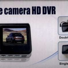 CAMERA VIDEO DUBLA DVR AUTO HD 720p 30 FPS | F20 | CICLICA | DISPLAY 2 INCH TFT | CAMERA MARSARIER | MARTOR ACCIDENT | NOUA - Camera mers inapoi