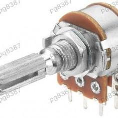 Potentiometru rotativ 20K, liniar, stereo - 161057