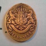 CAROL I 1866-1906 FRUMOASA BRONZ/1 - Medalii Romania