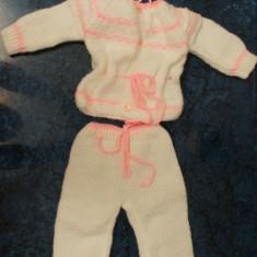 Haine copii - Costumas bebe 4 piese mohair tricotat manual - LA COMANDA