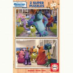 Puzzle Educa Monsters University 2x50 Piese