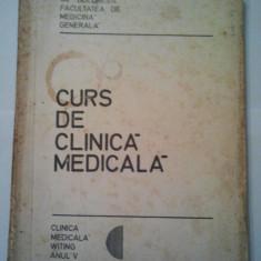 CURS DE CLINICA MEDICALA { VOLUMUL 1 ANUL V } - V. POMPILIAN ( 1105 ) - Curs Medicina