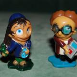Lot 2 figurina jucarie surpriza ou Kinder, Funny Students (2007), Lauryne la peste si Leo l'intello, MPG TT-078, MPG TT-081, plastic, colectie, de - Surpriza Kinder