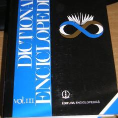 CC34 - DICTIONAR ENCICLOPEDIC - VOLUMUL III - EDITATA IN 1999 - Enciclopedie