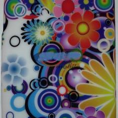 Husa, Silicon, Husa - Toc silicon Jelly Case Colour Flowers Nokia Lumia 520