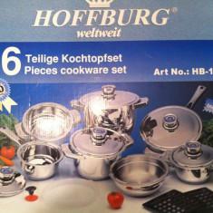 Set oale si tacamuri HOFFBURG WELTWEIT originale INOX cu garantie