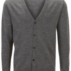 Cardigan 100% lana premium, cu nasturi - SELECTED - art 16030550 gri - Pulover barbati Selected, Marime: L, XL