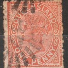 Anglia/Colonii - stat. Australiene - QUEENSLAND, 1890, Victoria, stampilat