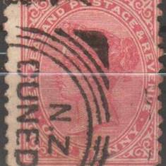 Anglia/Colonii - NEW ZEALAND, 1882, regina Victoria, stampilat