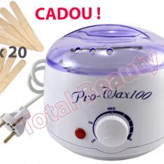 Incalzitor Ceara Parafina Pro Wax 100 + CADOU 20 Spatule aplicare ceara epilare
