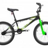 Bicicleta BMX Sprint XR Otel Negru - Alb - Verde 20 Inch SPRINT