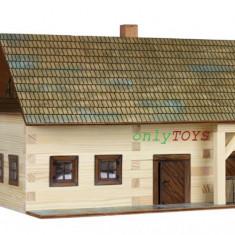 Set casuta din barne lemn Casa Taraneasca Gospodarie eco walachia homestead lego - Jocuri Seturi constructie