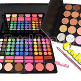 Trusa make up - Trusa farduri profesionala 78 culori cu ruj + Trusa 15 Concealer + CADOU Creion