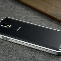 Samsung Note 3 - Bumper Ultra Slim 0.7mm din Aluminiu Argintiu - Bumper Telefon, Samsung Galaxy Note 3