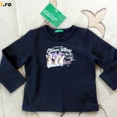Haine Copii 1 - 3 ani, Trening, Fete - Nou! Bluza de trening bleumarin, marca BENETTON, fetite 24 luni