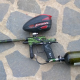 Marker paintball Planet Eclipse E-TEK 3 + butelie și loader DYE