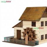 Set constructie casuta casute traditionale din lemn MOARA DE APA walachia water - Jocuri Seturi constructie