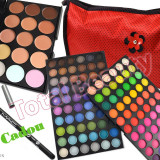 Trusa machiaj profesionala 120 culori Fraulein + 15 concealer + Gentuta + CADOU - Trusa make up