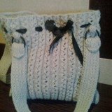 Genti tricotate manual - Geanta handmade