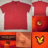 Tricou barbati - Tricou LYLE & SCOTT Vintage rosu L barbati ultras casual polo