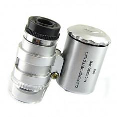 Microscop lupa 60X cu lampa LED UV pentru verificari bani, bijuterii, etc +CADOU