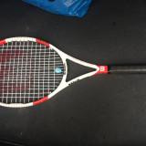 Racheta Wilson Six One 95S - Racheta tenis de camp Wilson, Performanta, Adulti, Grafit/Carbon