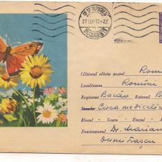 % plic--(intreg postal)-FAUNA -Fluture, An: 1976