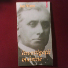 Ion Vianu Investigatii mateine, editie princeps - Carte Monografie, Polirom