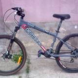Mountain Bike Cube, 20 inch, 24 inch, Numar viteze: 21, Carbon, Gri mat - Bicicleta KONA