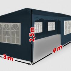 Mobila terasa gradina - Cort de gradina 3 x 9 m albastru