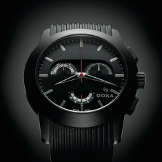Ceas Barbatesc Doxa, Lux - sport, Quartz, Cauciuc, Cronograf, Analog - Doxa Grafic Mistero Black Cronograph Round cu acte, stare perfecta