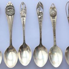 6 lingurite argint americane deosebite, Sterling Silver, Set lingurile