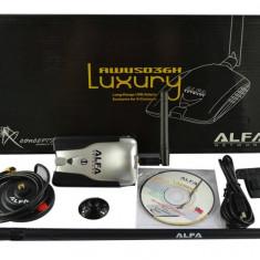 Adaptor wireless - Ultima Versiune Alfa Luxury AWUS036H V5 Chipset Realtek 8187L