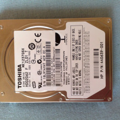 Hard disk Toshiba 2, 5' SATA 120g TOSHIBA MK1237GSX (HDD2D62) - DEFECT - HDD laptop Toshiba, 100-199 GB, Rotatii: 5400, SATA2, 8 MB