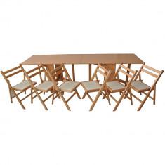 Set masa plianta de 12 persoane - Scaun bucatarie