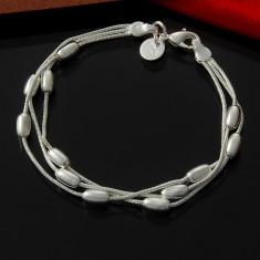 Bratara argint - Bratara superba argint 925 + cutiuta; 18-19.5 cm lungime, reglabila pe 2 trepte