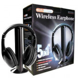 Casti PC, Wireless - Casti wireless 5 in 1 HI-FI negru