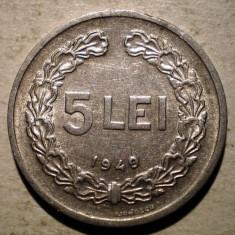 Monede Romania, An: 1949 - 7.708 ROMANIA RPR 5 LEI 1949