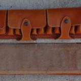 Cartusiera din piele pentru cartuse, accesoriu vanatoare, vanatori, cartuse - Imbracaminte Vanatoare, Marime: XXL
