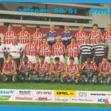 Autograf - CARTE POSTALA - PSV EINDHOVEN - SEZONUL 1990-1991, CU GICA POPESCU SI ROMARIO