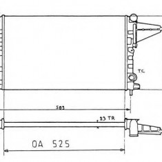 Radiator, racire motor OPEL VECTRA A hatchback 1.6 i - NRF 58775