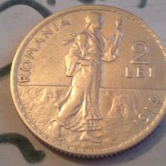 Monede Romania, An: 1914 - 2 LEI 1914 ARGINT /2 SUPERB DE COLECTIE
