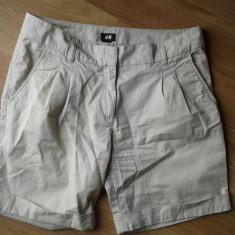 Pantaloni scurti crem H&M - Pantaloni dama H&m, Marime: 40, Culoare: Bej, Bumbac