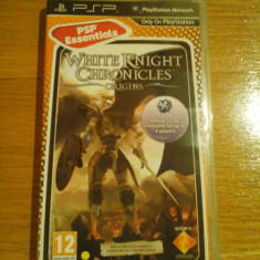 JOC PSP WHITE KNIGHT CHRONICLES ORIGINS ESSENTIALS ORIGINAL / by WADDER - Jocuri PSP Sony, Actiune, 12+, Single player